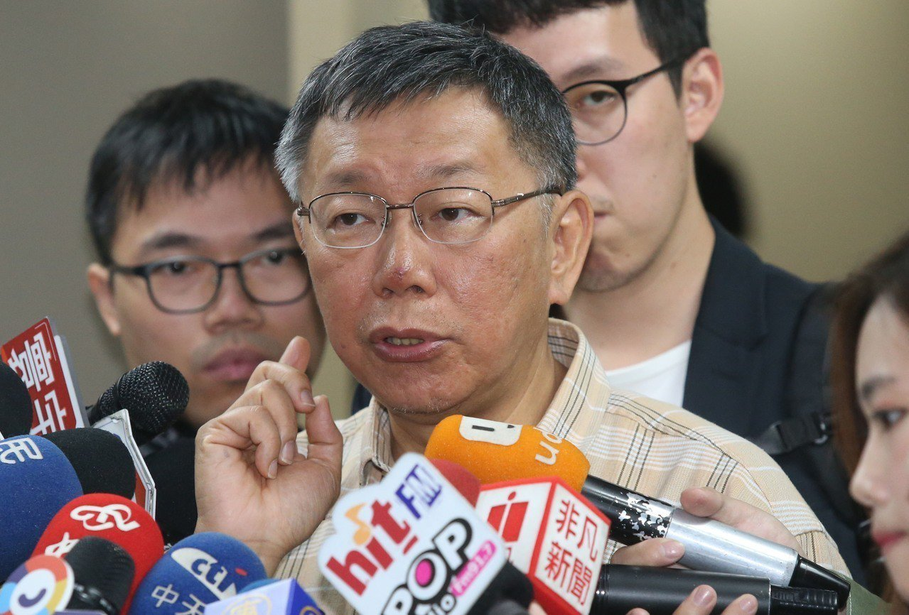 台北市長柯文哲。聯合報系資料照片/記者林俊良攝影