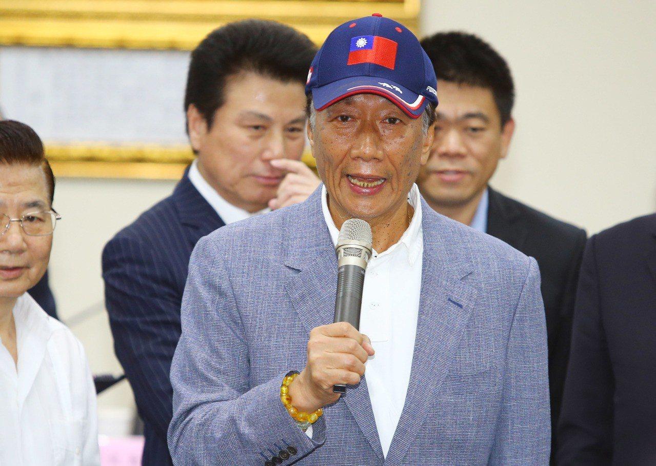 郭台銘宣布參選總統,鴻海爆出史上第六大的成交量。 記者陳柏亨/攝影