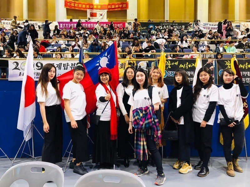 嶺東流設系師生於IFBC國際大賽中為國爭光。 嶺東科大/提供