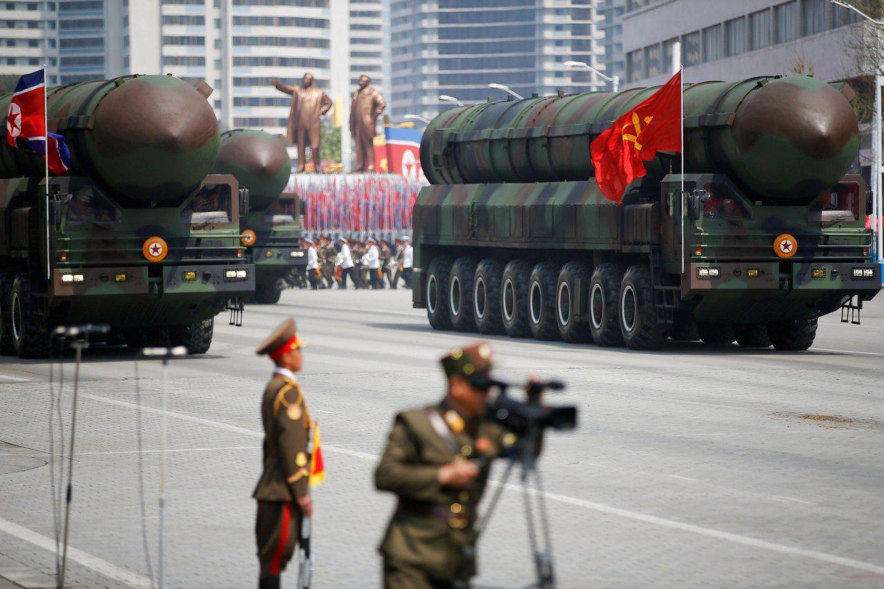 北韓閱兵畫面。 路透社資料照