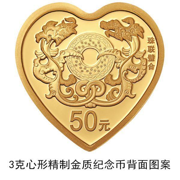 [複製]大陸央行將發行「珠聯璧合」心形金銀紀念幣 林則宏