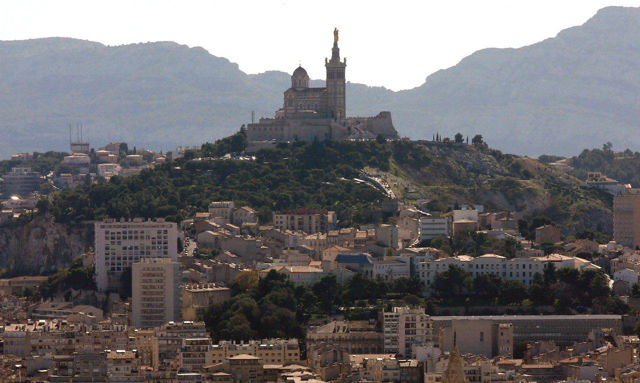 馬賽市的守護聖母聖殿(Notre-Dame de la Garde)。 路透社