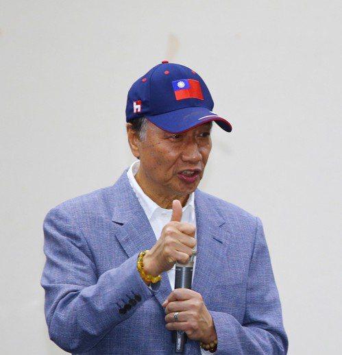鴻海董事長郭台銘宣布角逐總統大位,外媒也關注。 記者陳柏亨/攝影