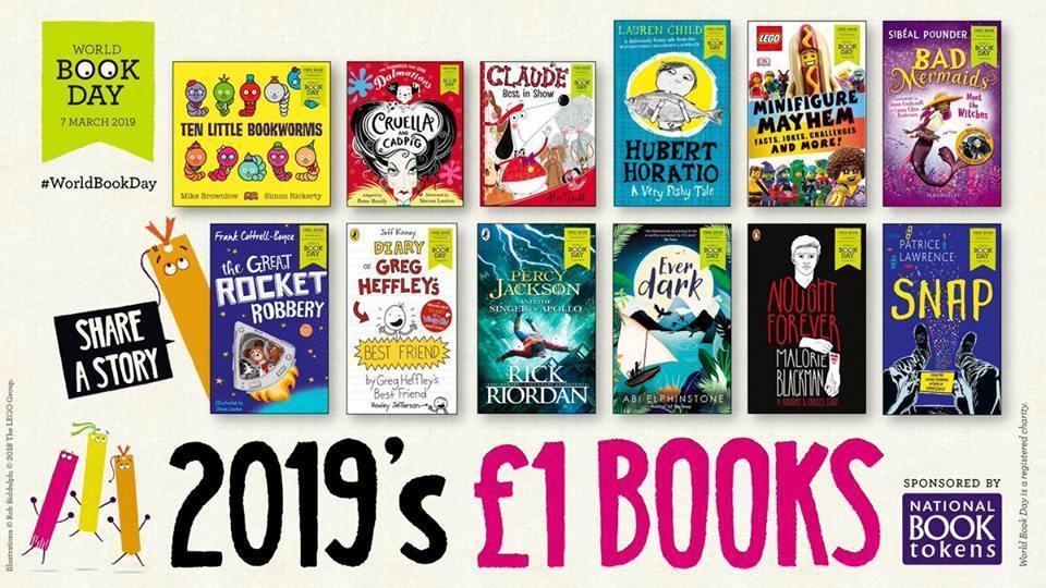 主辦單位每年發出1500萬張圖書抵用券,鼓勵孩童免費換取年度選書,也可折抵一英鎊...