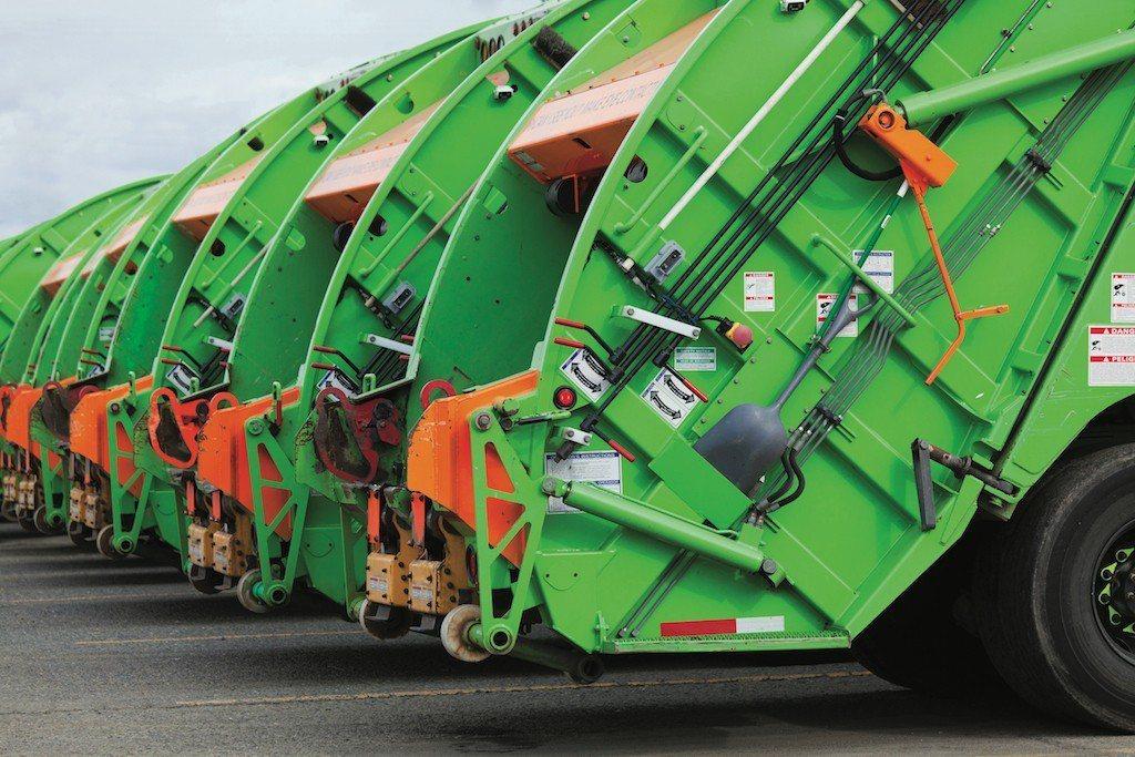 智慧垃圾桶能夠自動與清潔隊即時通訊,並最佳化垃圾收集路線。 u-blox /提供
