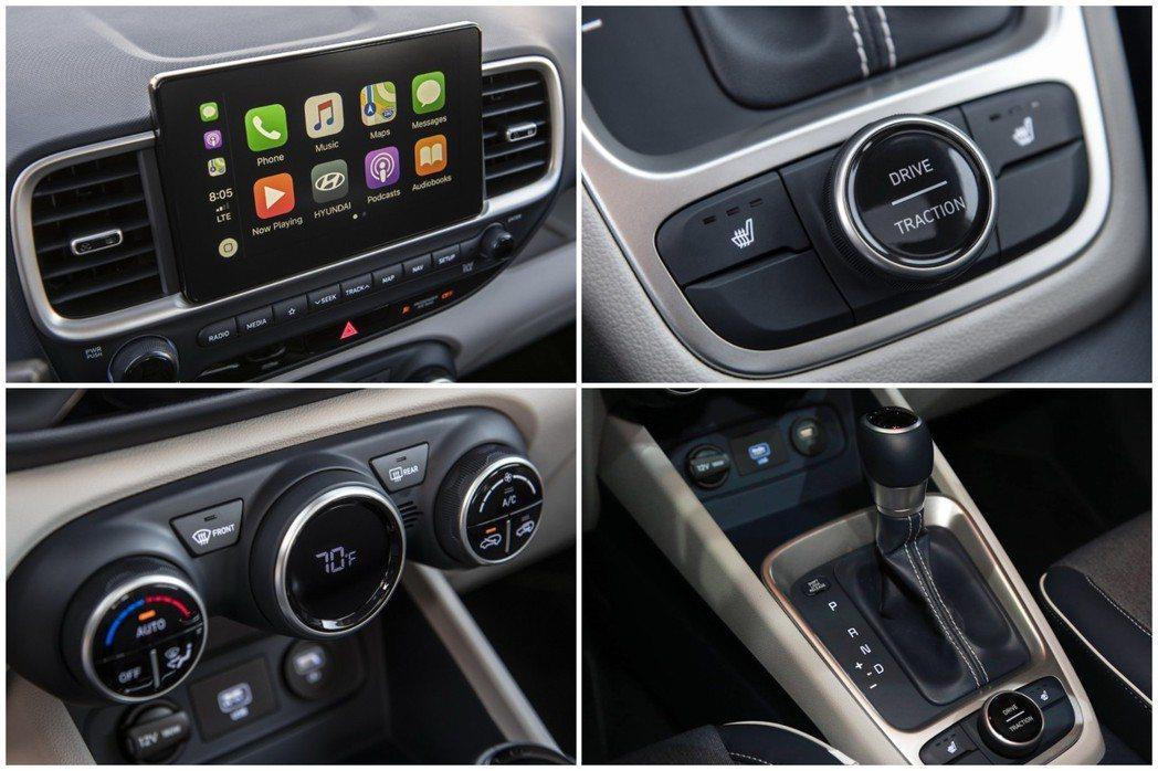 全新Hyundai Venue中控台配置八吋觸控式螢幕。 摘自Hyundai