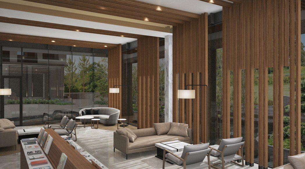 大廳 3D透視參考模擬圖。圖片提供/都市建設