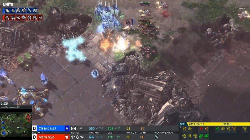 Maru在第一局掌握壓制節奏,利用地形讓Classic的防守備受威脅 圖/Afr...