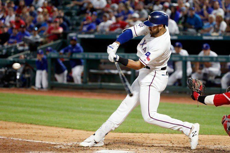遊騎兵外野手賈羅開季至今53個打數只有12支安打,但其中有6支是全壘打。 美聯社