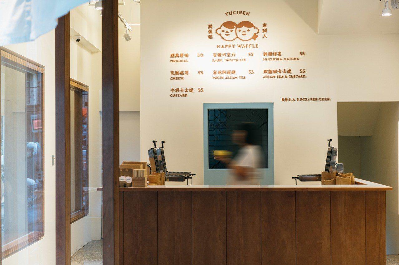 「魚刺人雞蛋糕」台中審計新村旗艦店。圖/魚刺人雞蛋糕 提供
