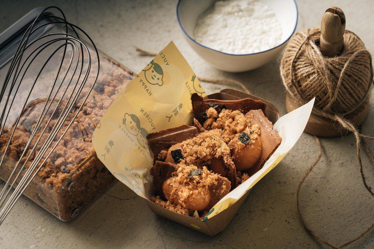 「魚刺人雞蛋糕」限定款肉鬆卡斯達。圖/魚刺人雞蛋糕 提供