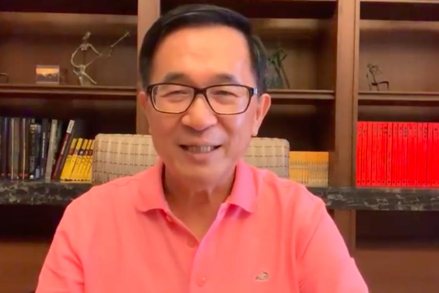 前總統陳水扁反擊韓國瑜批評。圖/擷取自YonGe Chen臉書影片