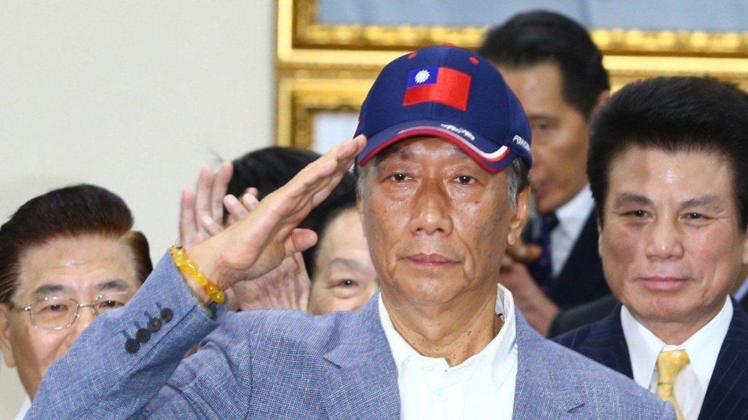鴻海董事長郭台銘昨天宣布投入國民黨初選。 記者陳柏亨/攝影