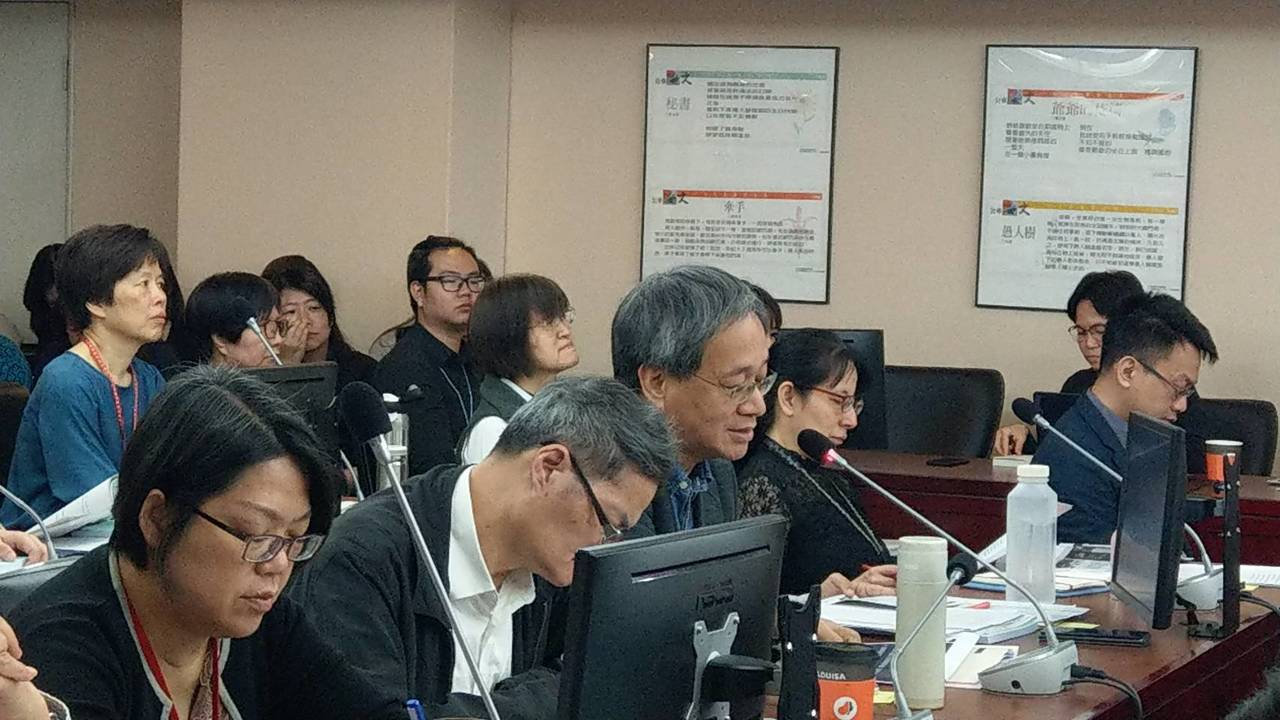 台北市議會教育委員會上午進行文化局工作報告,文化基金會董事長、台北影視音學校校長...