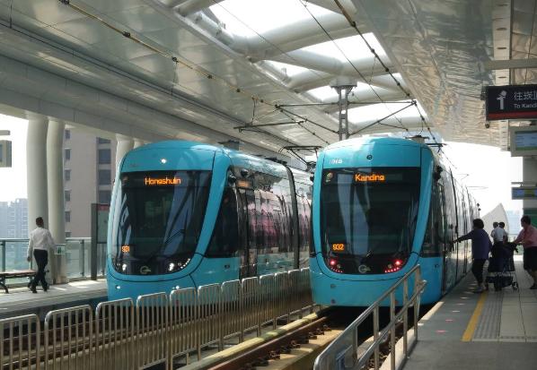 淡海輕軌稍早已恢復行駛。圖/新北捷運公司提供