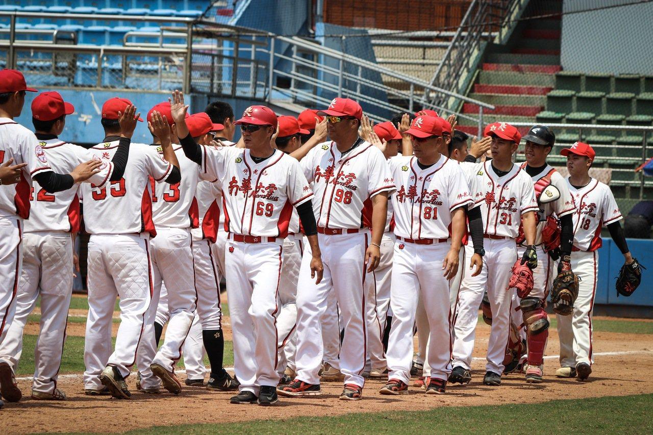 梅花旗賽事首日,南華大學投手群合力投出七局的無安打比賽。 聯合報系資料照