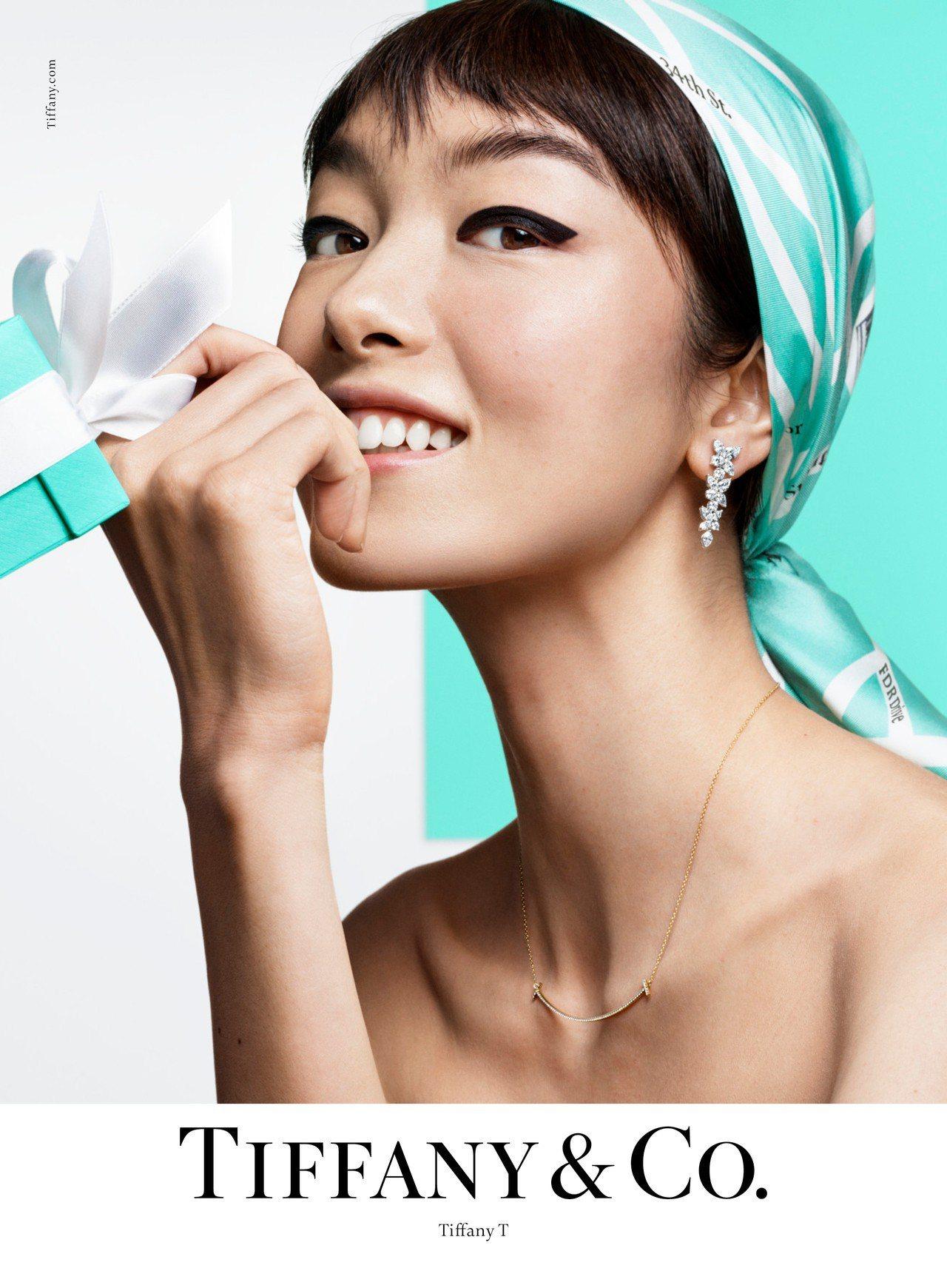 超模孫菲菲演繹Tiffany & Co.春季形象大片。圖/Tiffany & C...