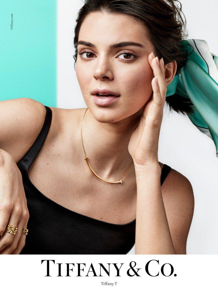 超模Kendall Jenner演繹Tiffany & Co.春季形象大片。圖/...