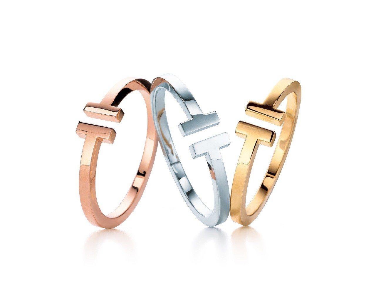 Tiffany T Square 手環18K玫瑰金、18K白金 、18K黃金,各...