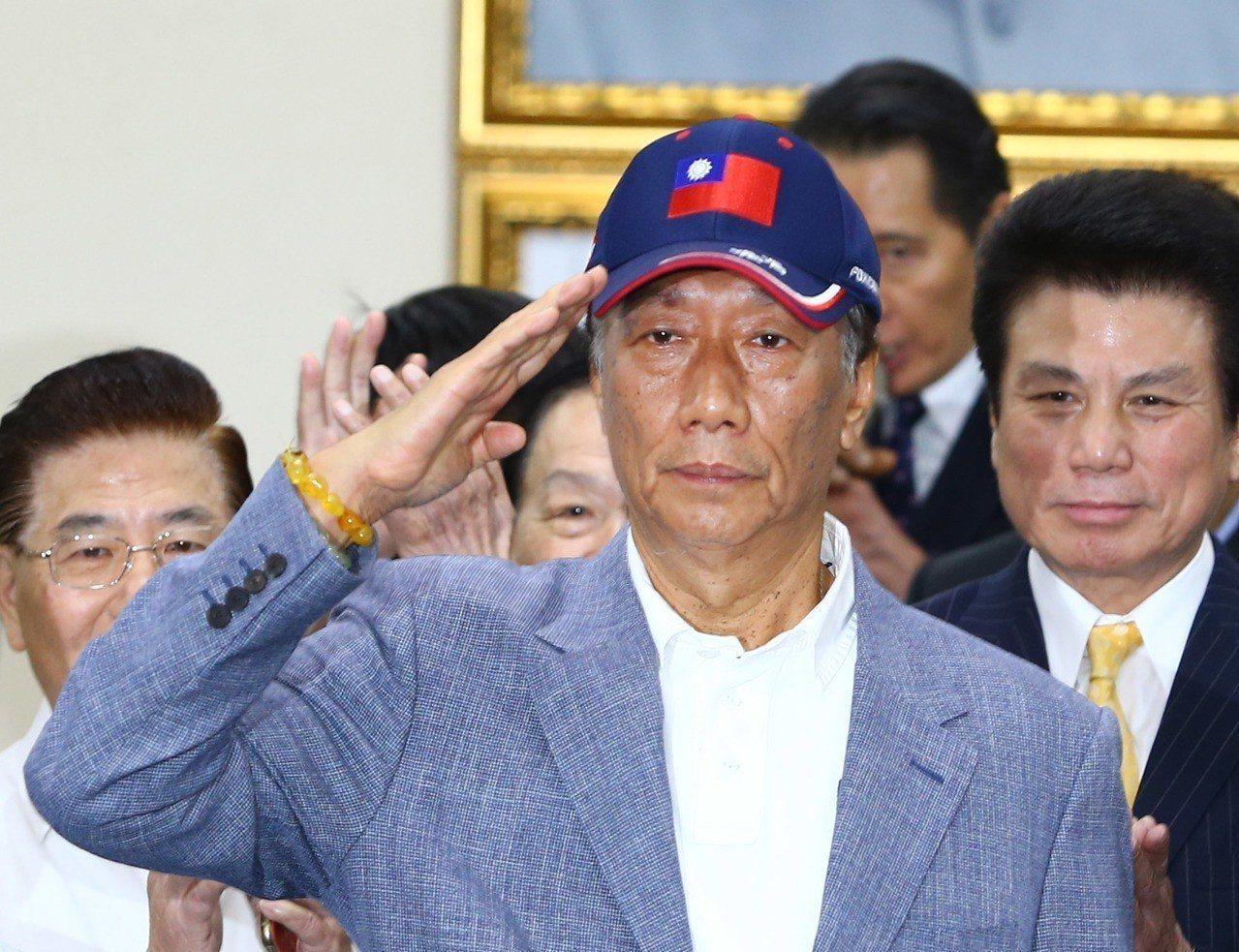 鴻海董事長郭台銘昨天(17日)宣布投入國民黨初選。 記者陳柏亨/攝影