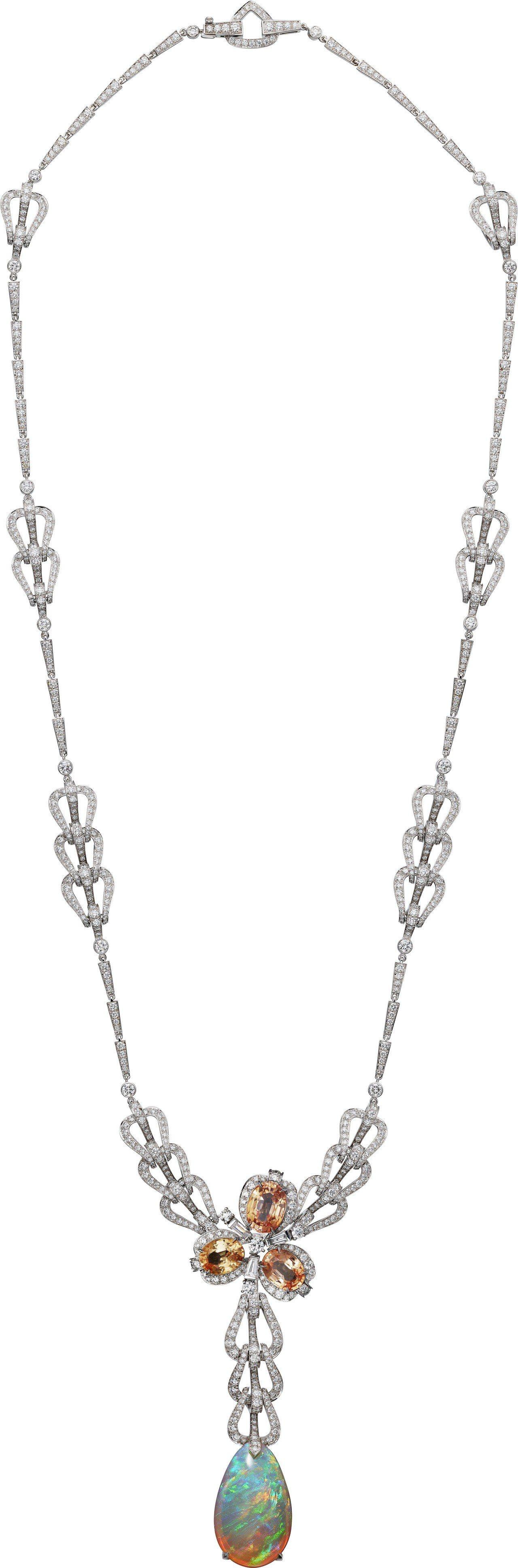 卡地亞COLORATURA系列TOSCA蛋白石項鍊,白K金鑲嵌衣索比亞蛋白石24...