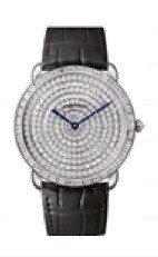 卡地亞Ronde Louis Cartier腕表,36毫米白k金鑲鑽表殼與表盤、...