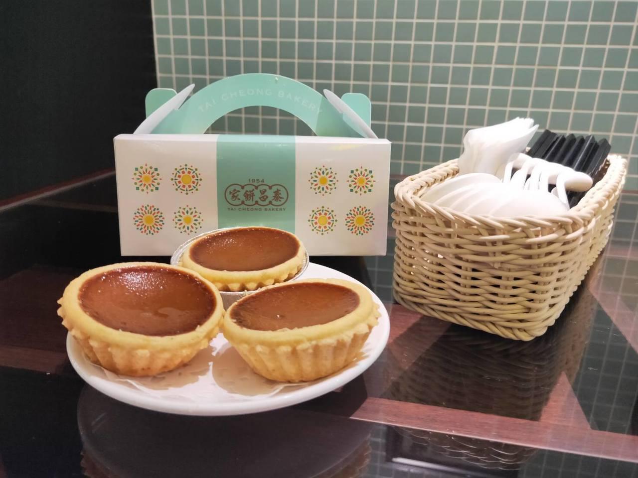 泰昌餅家「港式奶茶蛋撻」每日現烤限量200份。圖/環球購物中心提供