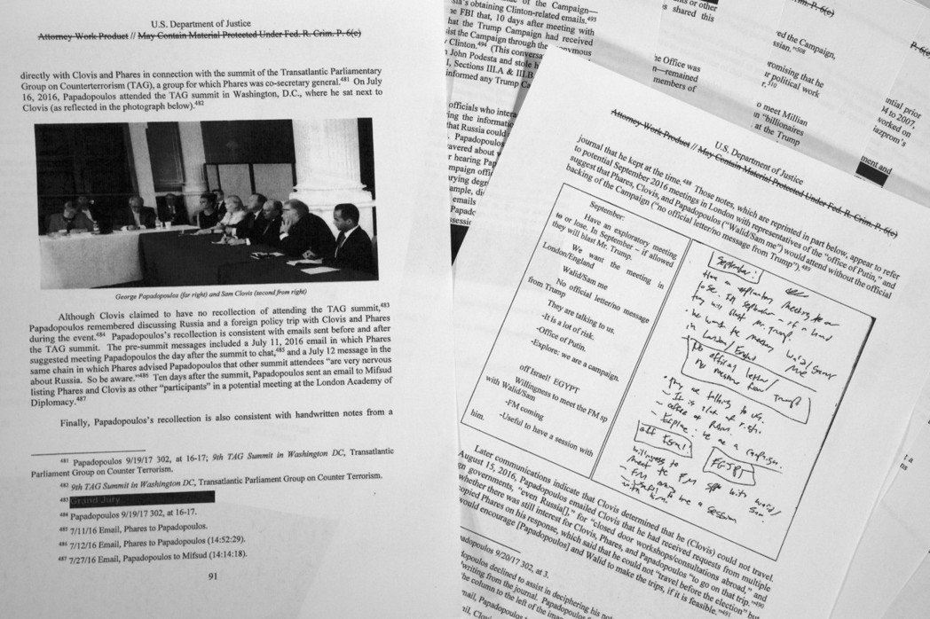 刪節版穆勒調查報告在18日公布。 (美聯社)