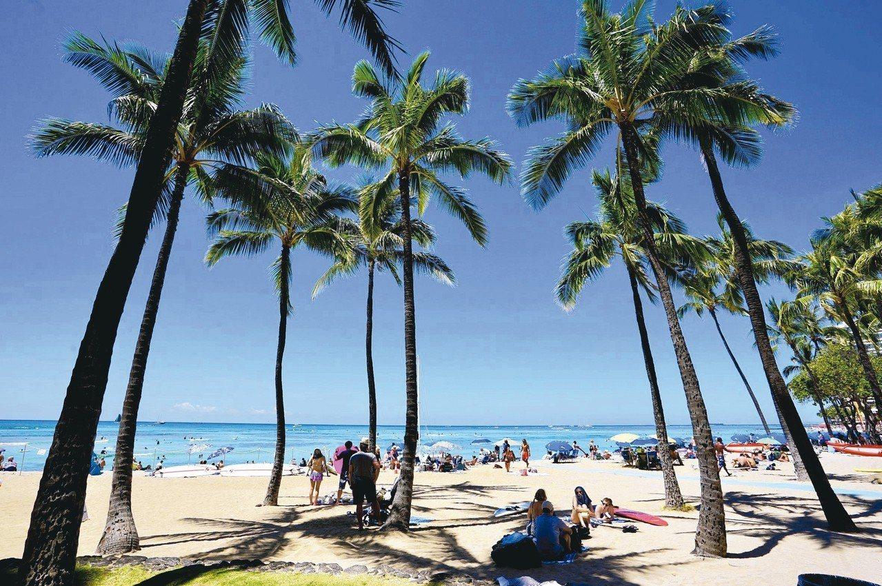 威基基海灘曾是夏威夷皇室娛樂休閒處所。 圖/游慧君