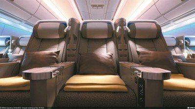 華航豪華經濟艙,獨立客艙營造的新穎寬敞環境,讓飛行過程自在舒適。 圖/陳志光、華...