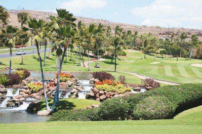 漂亮的KOOLINA GOLF COURSE有「夏威夷第一」球場稱號。 圖/陳志...