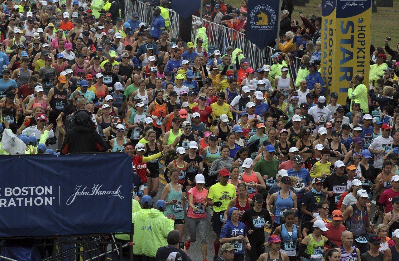 今年波士頓馬拉松傳出中國選手舞弊。 美聯社