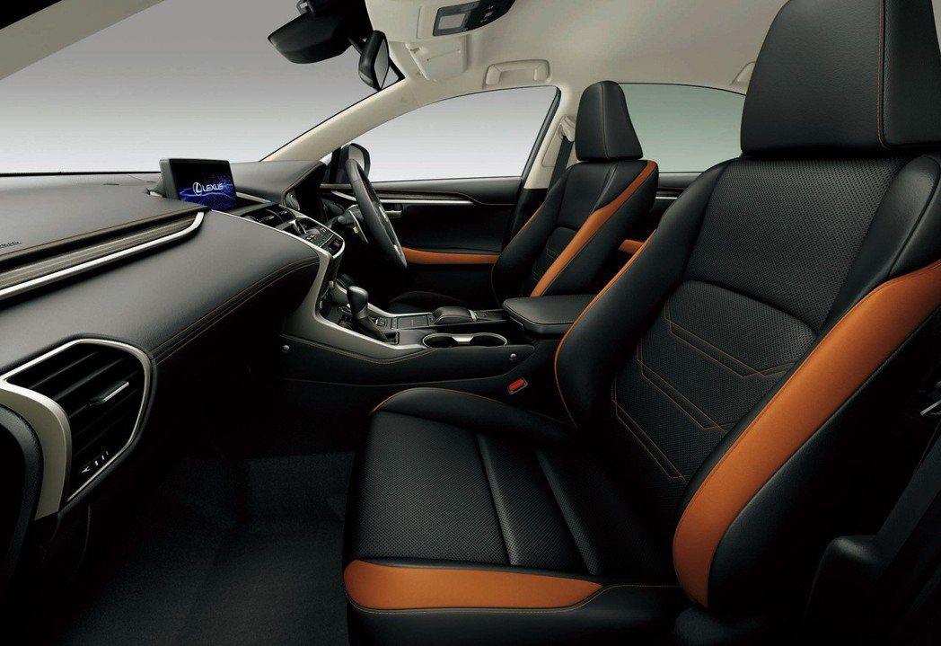 新年式日規Lexus NX新增瑪瑙色車身外觀與內裝配色供選擇。 摘自Lexus