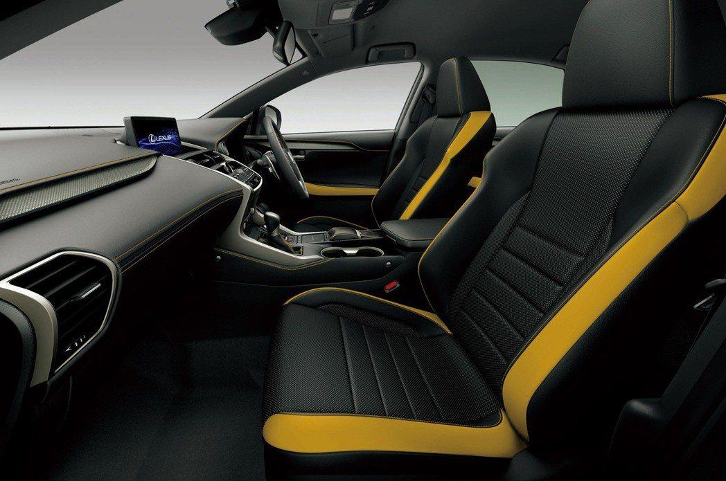 新年式日規Lexus NX F Sport車型新增雙色內裝。 摘自Lexus
