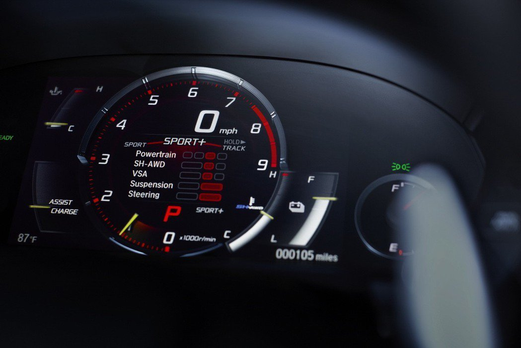 2019年式Honda NSX搭載Quiet、Sport、Sport+與Trac...