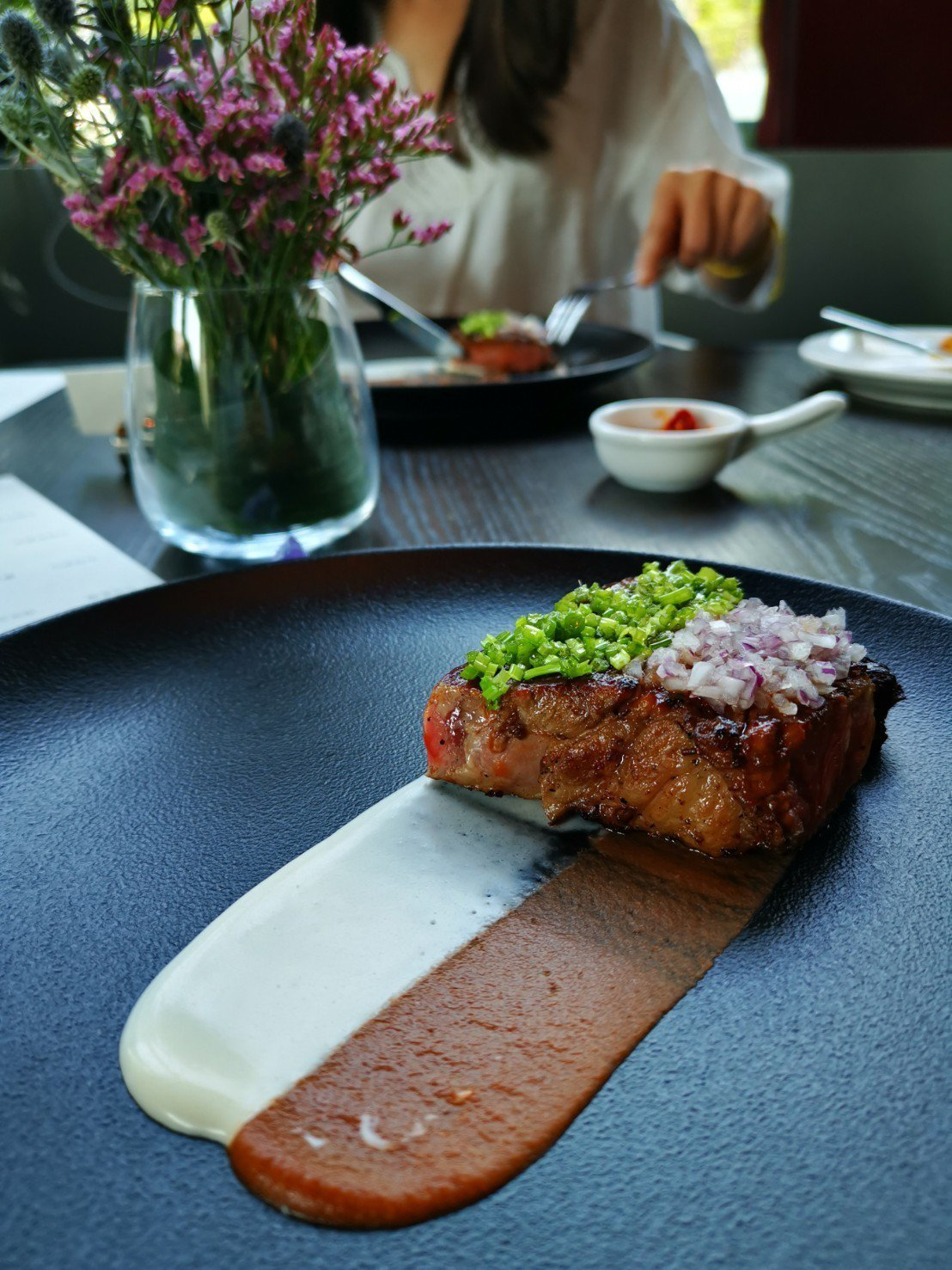 客座主廚菜單--美國頂級紐約客牛排。記者韓化宇/攝影