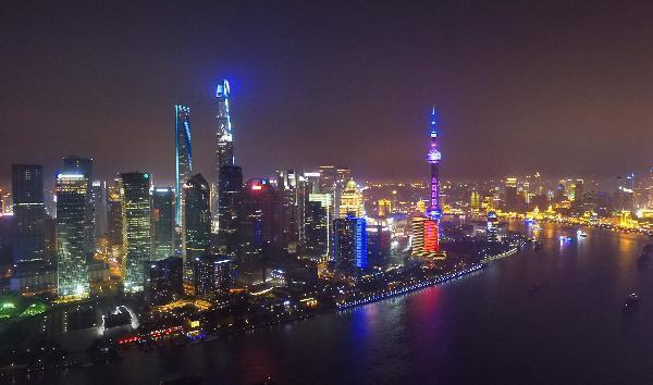圖為上海夜景。新華社資料照