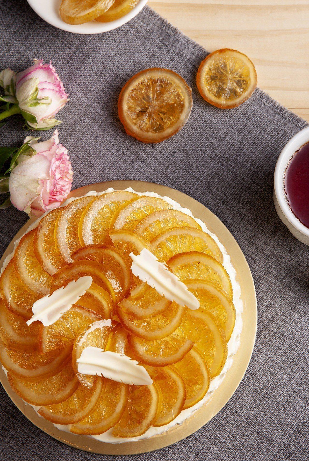 媽媽最愛的酸甜滋味─台北西華飯店母親節蛋糕「酪檸雪吻」。圖/台北西華飯店提供