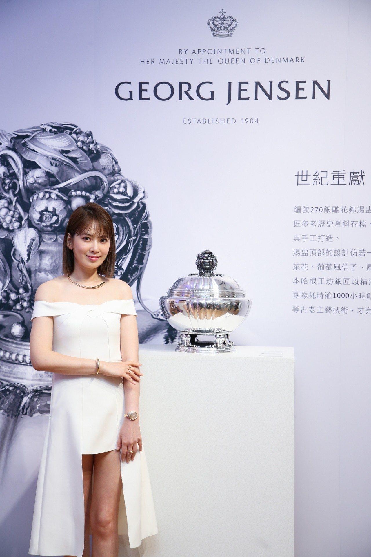 Melody出席喬治傑生《百年工藝 時光之旅》銀雕展開幕活動。記者吳致碩/攝影