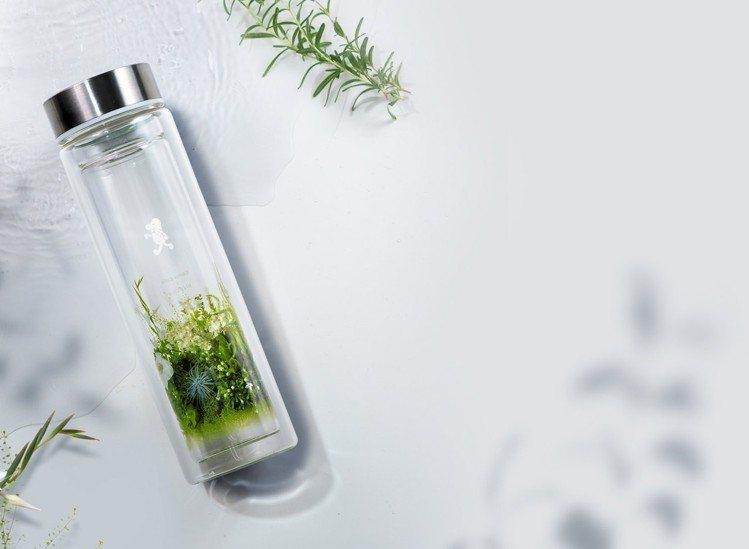cama café × plantica雙層玻璃水瓶。圖/cama café...