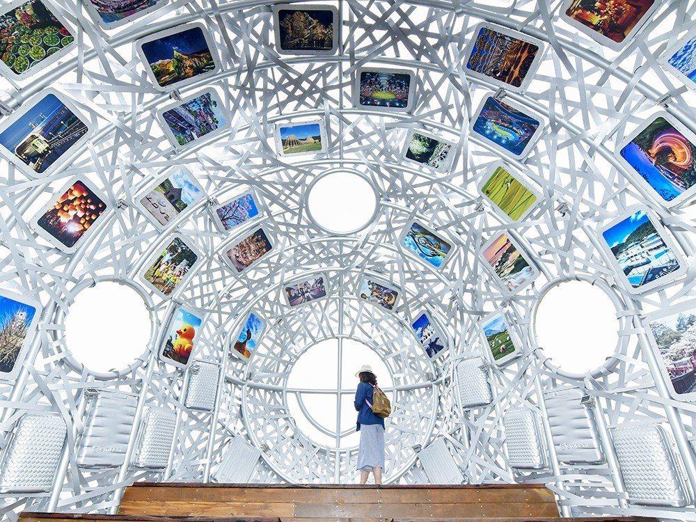 去年桃園地景藝術節重要展品「桃機一號」仍留在中壢青塘園,市府文化局年初啟動i-v...