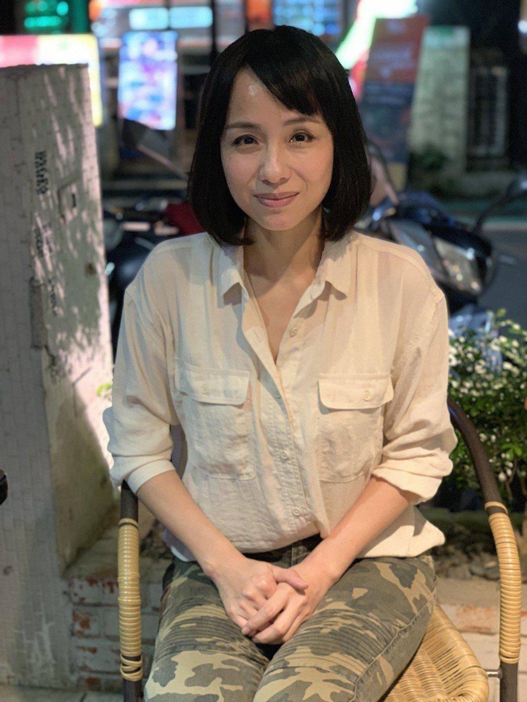 陳怡真出道時曾與金城武在「草地狀元」演出情侶。記者陳慧貞/攝影