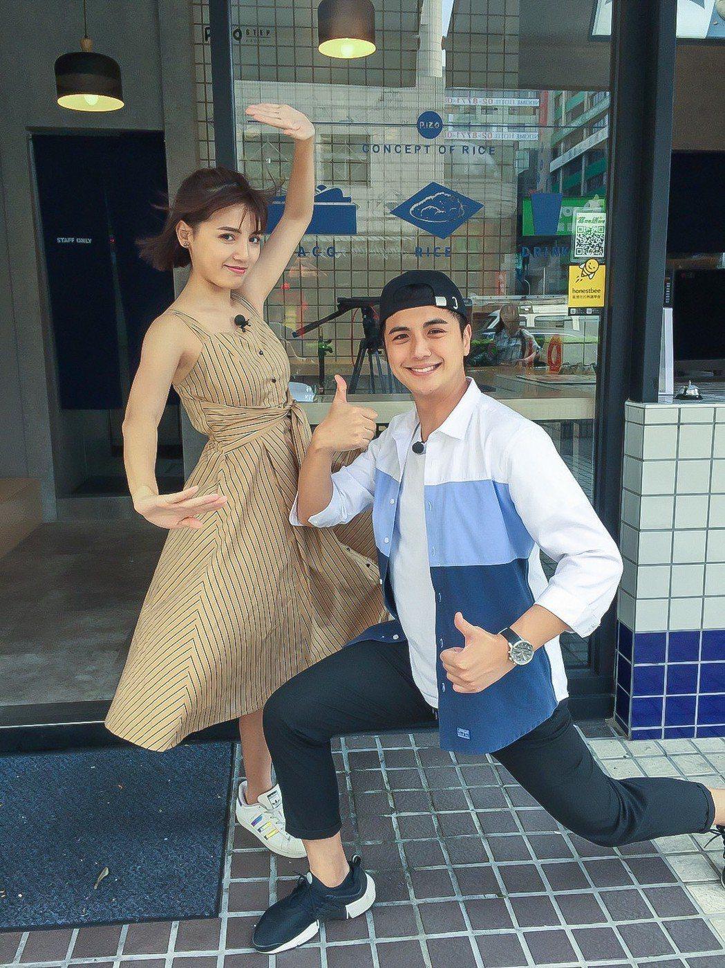 曾子余和Dora合作新版「食尚玩家」。圖/TVBS提供