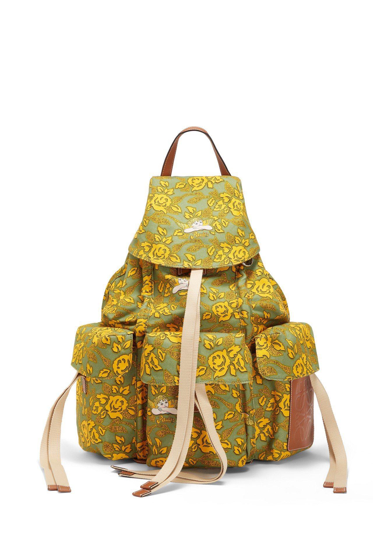 Rucksack Paula's印花黃綠色後背包,售價60,000元。圖/LO...