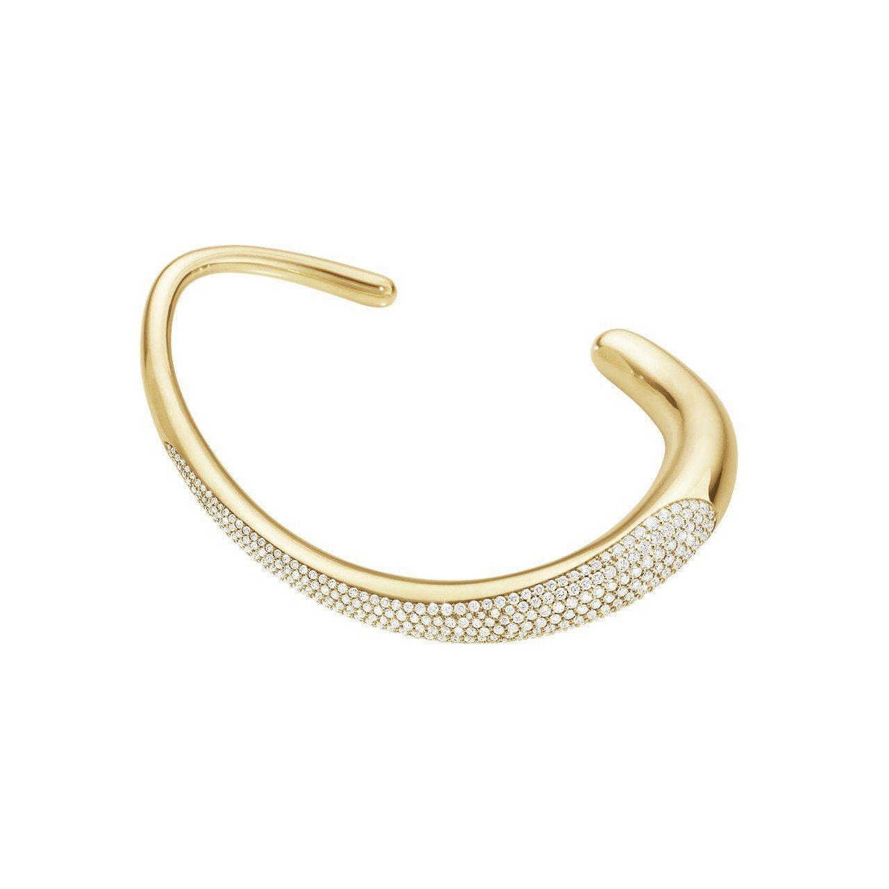 GEORG JENSEN巡迴珠寶OFFSPRING系列18K黃金鋪砌式鑲工美鑽手...