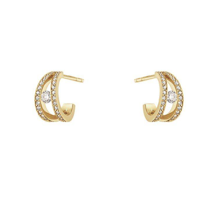 GEORG JENSEN HALO系列18K黃金鑽石耳環,69,000元起。圖/...