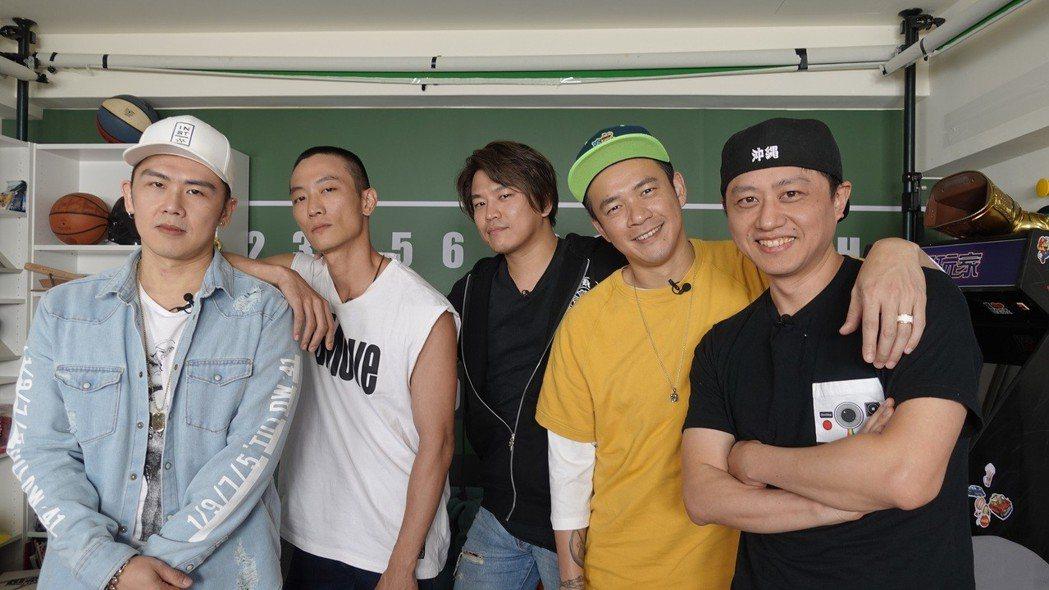 黃丹尼(右起)邀來阿Ben、Energy阿弟、K-ONE的Kido和麻吉大隸合組