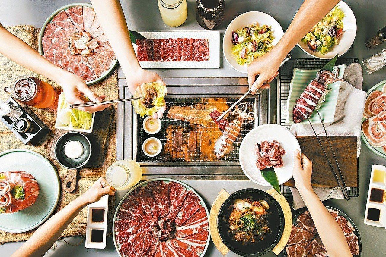 原燒O-NiKU的菜單內容以雙人套餐和三人套餐為主,符合燒肉多人用餐習性的點餐模...