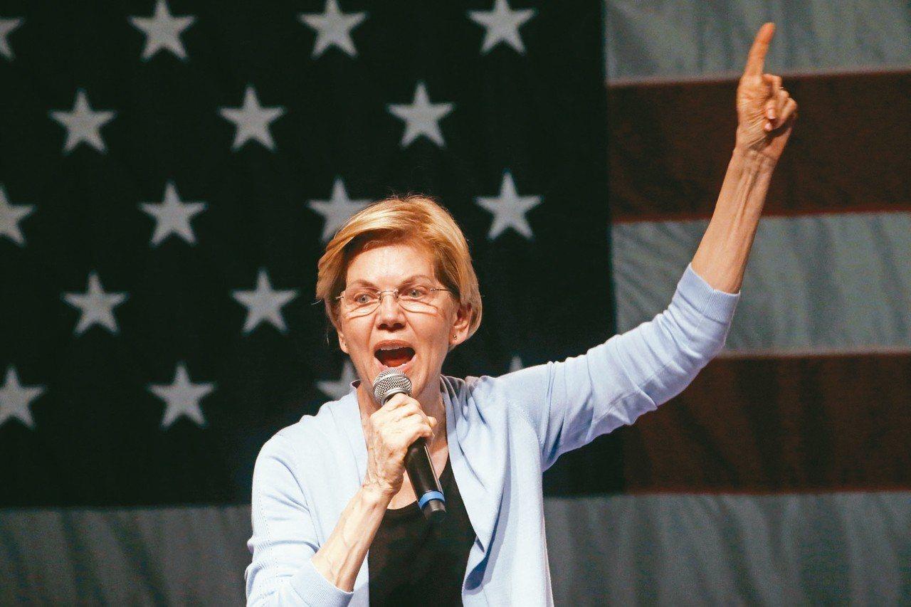 穆勒調查報告公布後,投入民主黨總統初選的聯邦參議員華倫19日開第一槍(見圖),要...