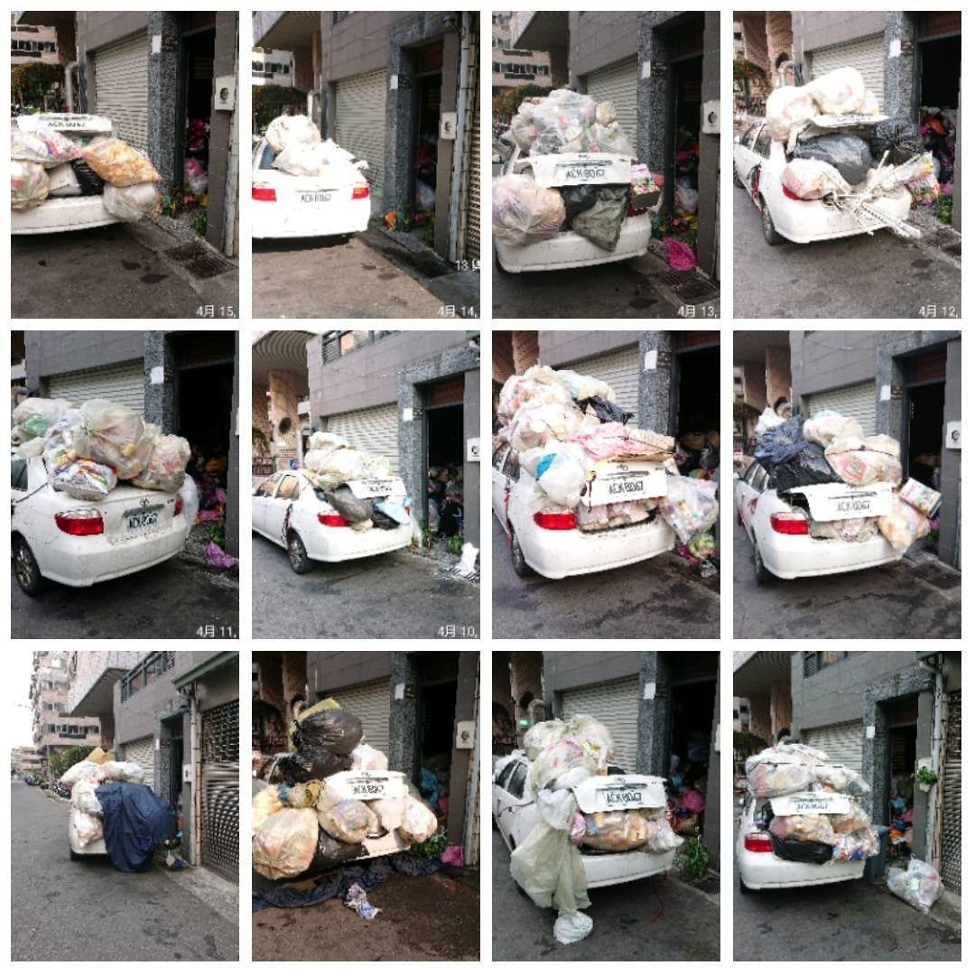 惡鄰居在環保局檢查時故意將車開走,男子只好每天紀錄鄰居惡行。圖/香港01提供